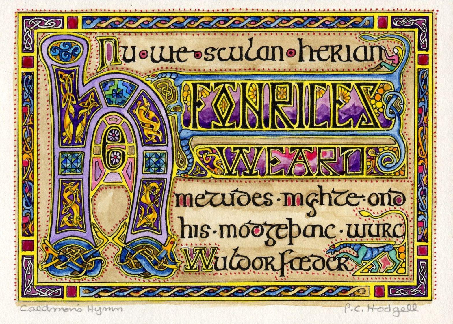 Illuminated Caedmon's Hymn